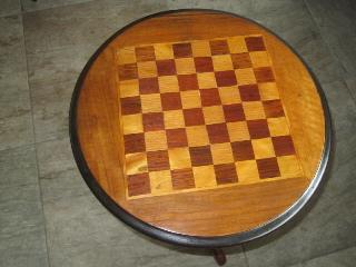schaaktafel waterschade - Restauratie antieke schaaktafel