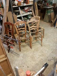 Antieke franse boeren stoelen