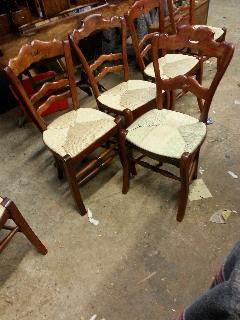 Gerestaureerde antieke Franse boeren stoel